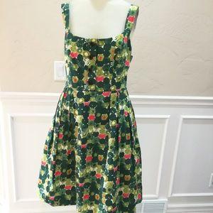 Milly of New York green pattern dress